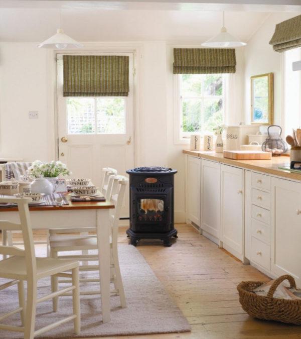 Bij verwarming Provence design potkachel