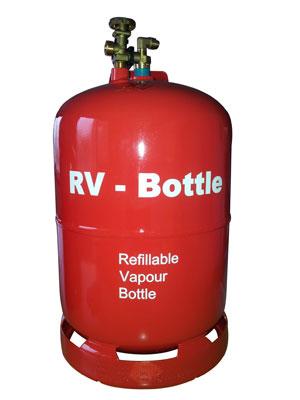 RV lpg gasdamptank hervulbare gasfles