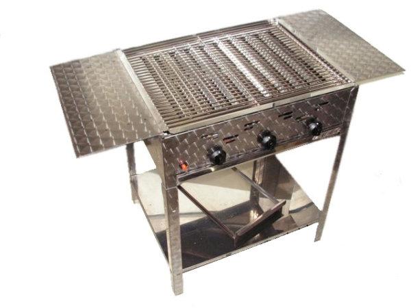 rvs gas barbecue met zijtafels