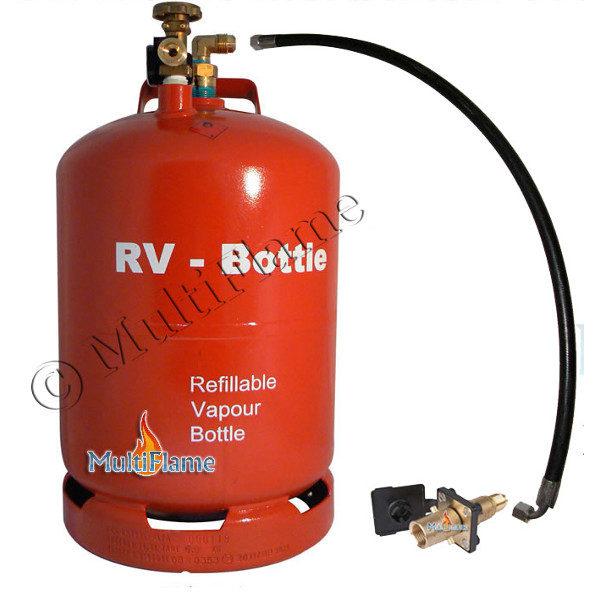 RV gasfles met buitenvuller