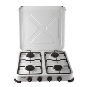 4 pits beveiligde kookplaat