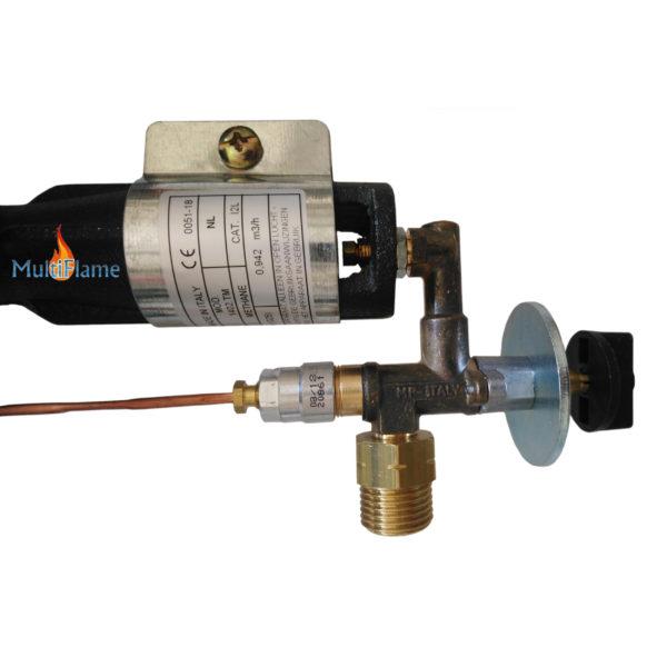 Thermisch beveiligde aardgas kraan
