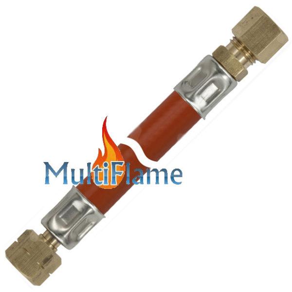 Gasslang 1/4 links x 8 mm knel