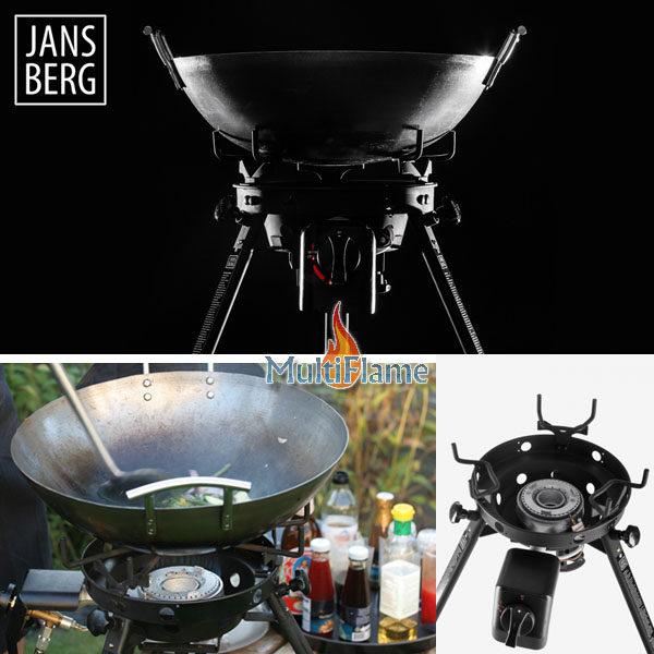 Jansberg wok brander combinatie