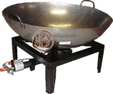 4 poot wokbrander met pan