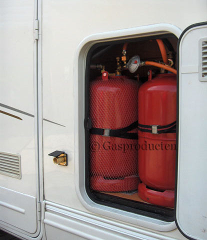 Stalen gasdamptank hervulbare lpg gasfles inbouw buitenvuller