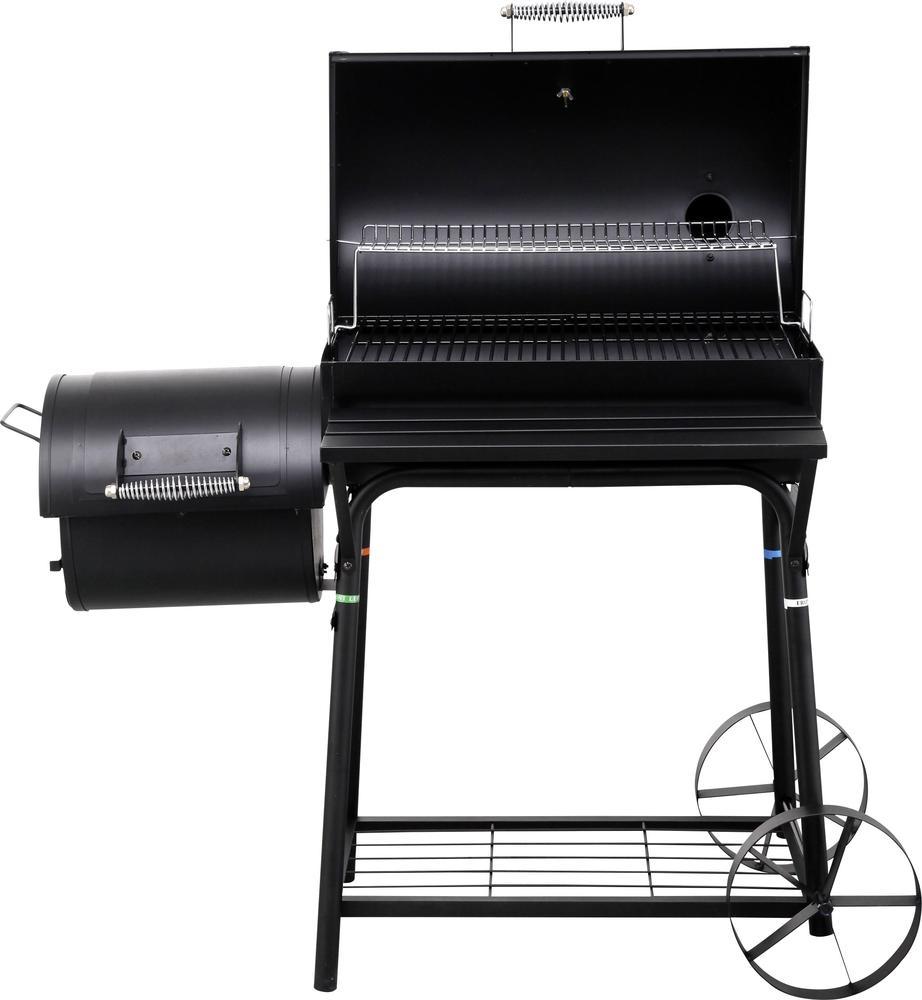 Bbq Met Deksel.Oklahoma Bbq Smoker 16 Inch