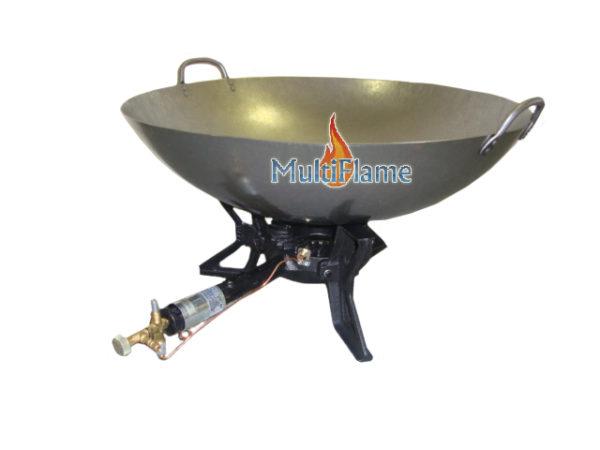 3 poot wokbrander met pan