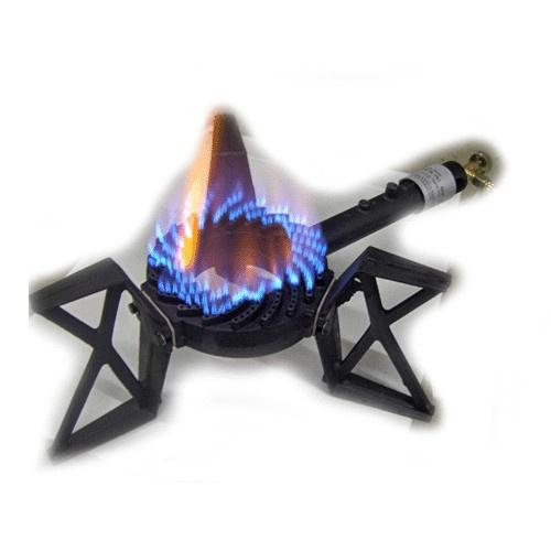 3 poot wokbrander brandend