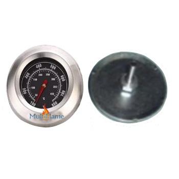 Ronde RVS thermometer met dikke rand