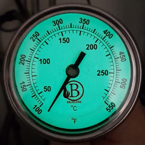 Thermometer glow in the dark