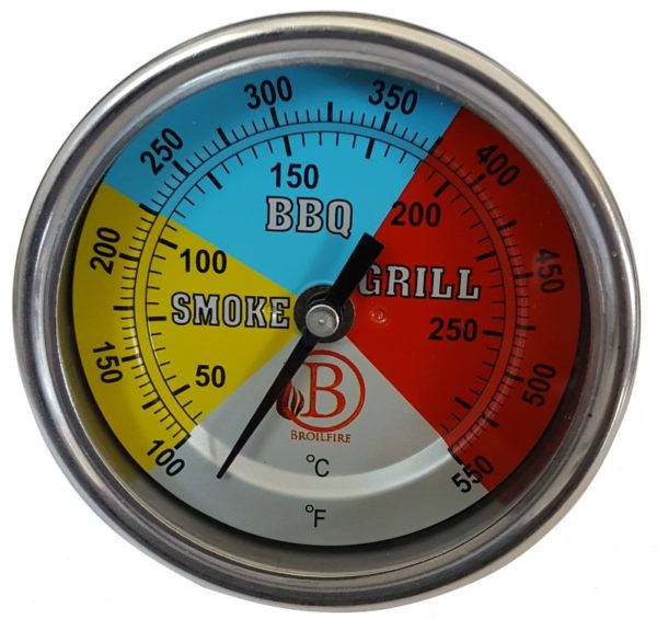 Smoke bbq grill thermometer