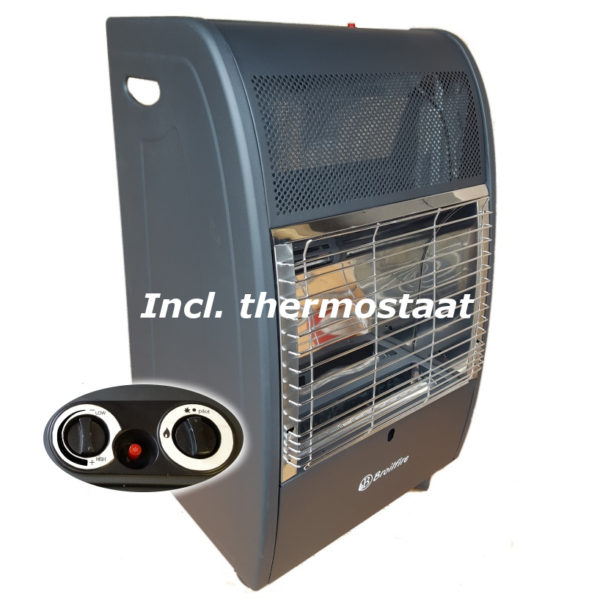 Broilfire blueflame thermostaat mobiele gaskachel
