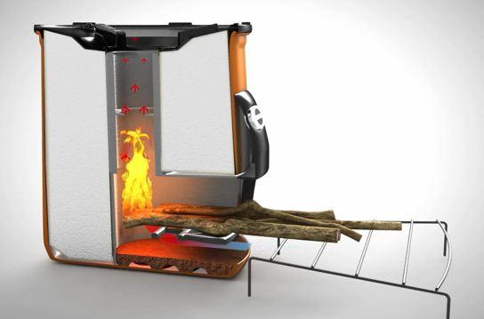 Werking Envirofit COOX G-3300 Hout Kooktoestel / Rocket stove