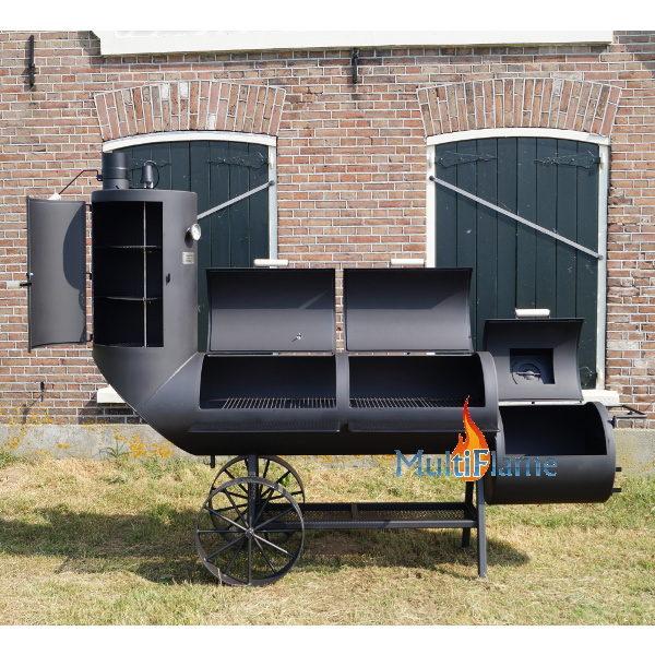 Oklahoma Country Smoker 21 inch kleppen open