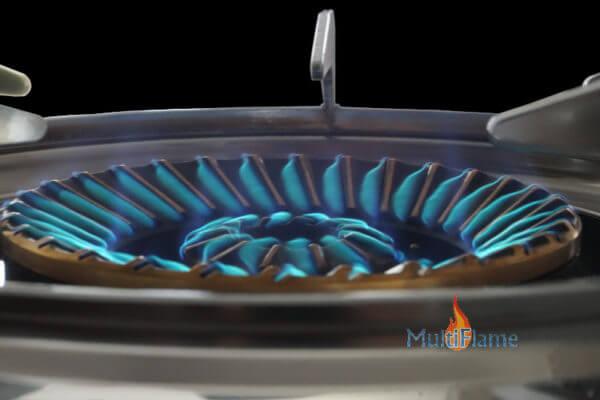 Mustang krachtig kookpit op gasfles vlam