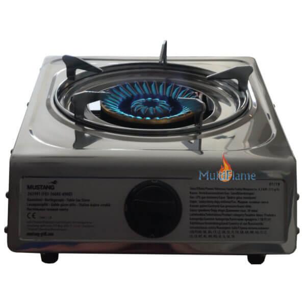 Mustang krachtige gas brander kookpit met vlam