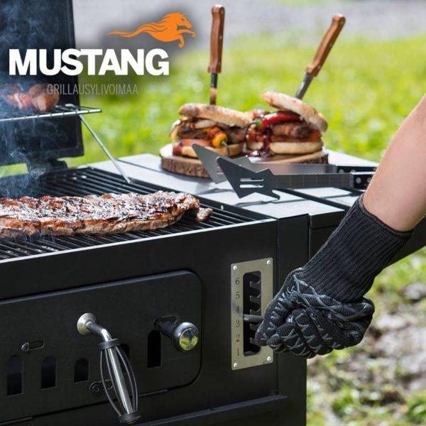Mustang bbq / barbecue / grill handschoen