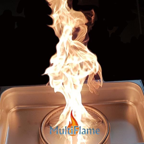 Brandende vuurtafel inbouw set voorbeeld
