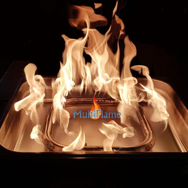 Voorbeeld brandende vuurtafel inbouw set