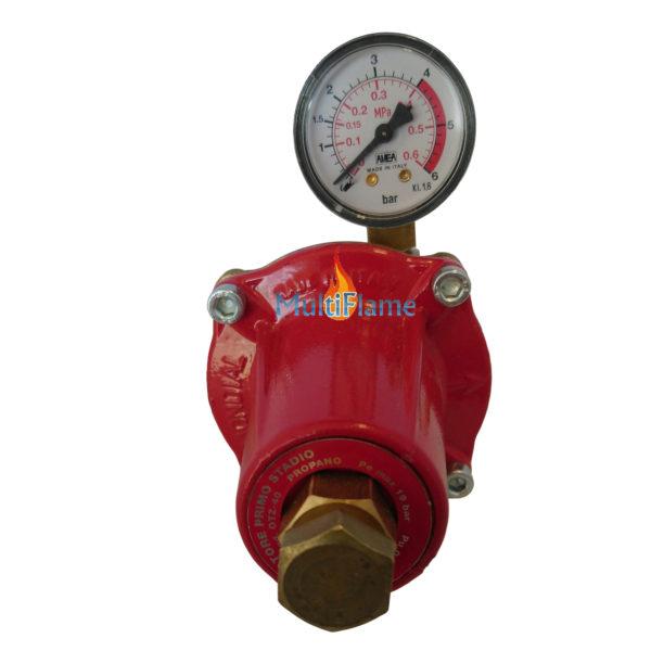 40 kg doorlaat 0 - 3 bar drukregelaar met manometer