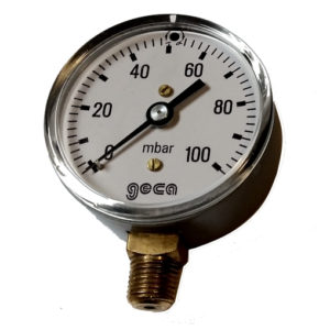 Lage druk manometer 0 - 600 mbar