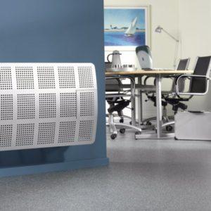 Gevelkachel met afvoer thermostaat geregeld Dru Style 5
