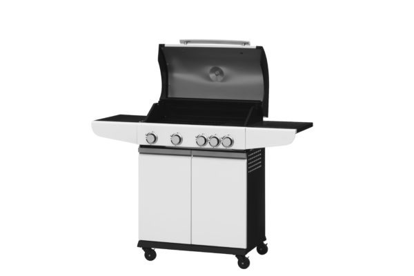 Mustang gas grill City wit open zijaanzicht