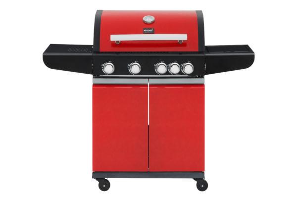 Mustang gas grill City rood vooraanzicht
