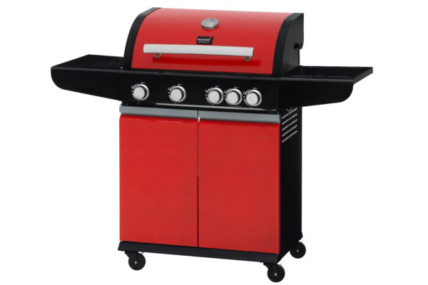 Mustang gas grill City rood zijaanzicht