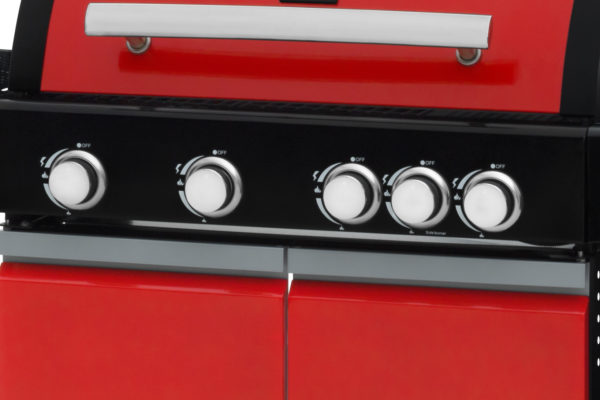 Mustang gas grill City rood bedieningspaneel