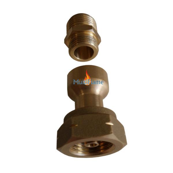 Adapter set om Truma filter op gasfles aansluiting te plaatsen