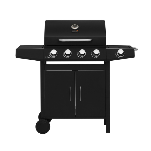 Robuuste gas barbecue grill Apassi van Mustang met 5 RVS branders