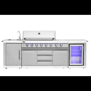 Mustang barbecue gas grill Ametist met koelkast, kraan, spit en infrarood brander