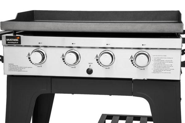 Mustang gas grill bakplaat Gridiron bedieningspaneel