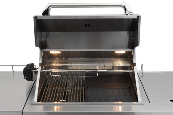 RVS buitenkeuken gas grill Opal draaispit met infrarood verwarming