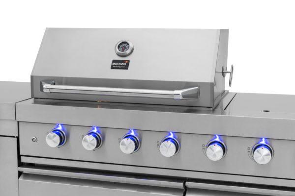 RVS buitenkeuken gas grill Opal led verlichting