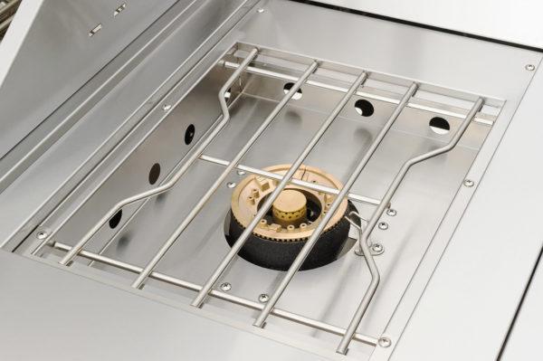 complete RVS buitenkeuken Mustang gas grill Opal zijtafel brander