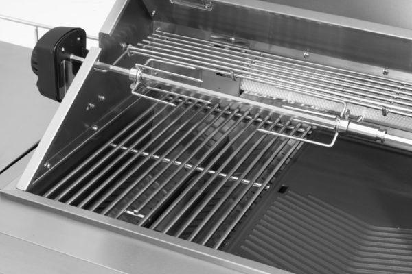 RVS buitenkeuken gas grill Opal draaispit met spitvorken
