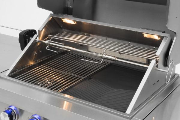RVS buitenkeuken gas grill Opal draaispit