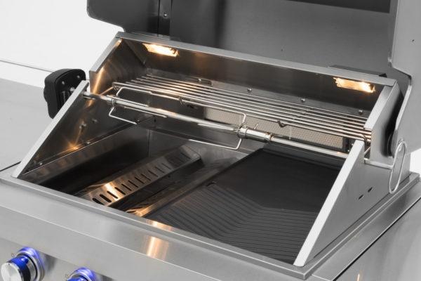 RVS buitenkeuken Mustang gas grill Opal draaispit