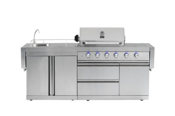 RVS buitenkeuken Mustang gas grill Opal