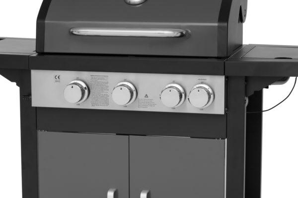Mustang gas grill Monterey grijs bedieningspaneel
