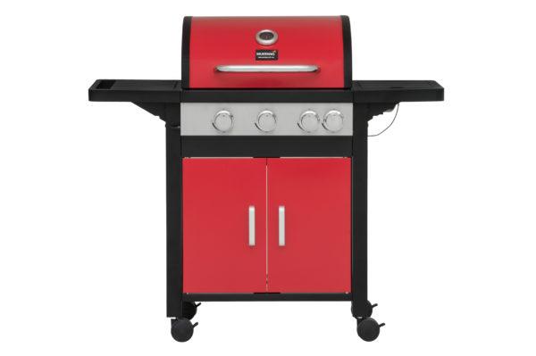 Mustang gas grill Monterey rood vooraanzicht