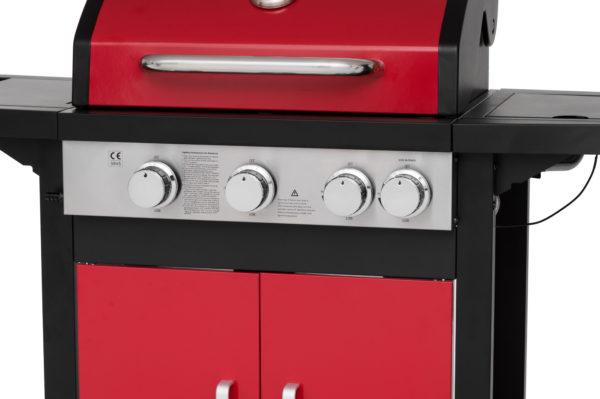 Mustang gas grill Monterey rood bedieningspaneel