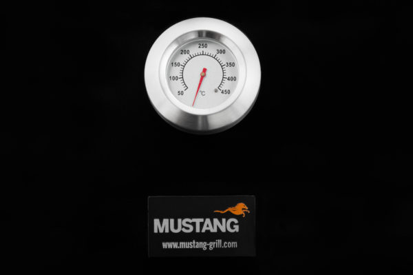 Mustang gas grill Pullman zwart thermometer