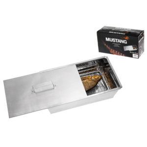 Grote RVS rook box met schuifdeksel van Mustang