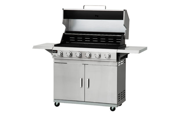 mustang gas barbecue Pro met 4 of 6 branders