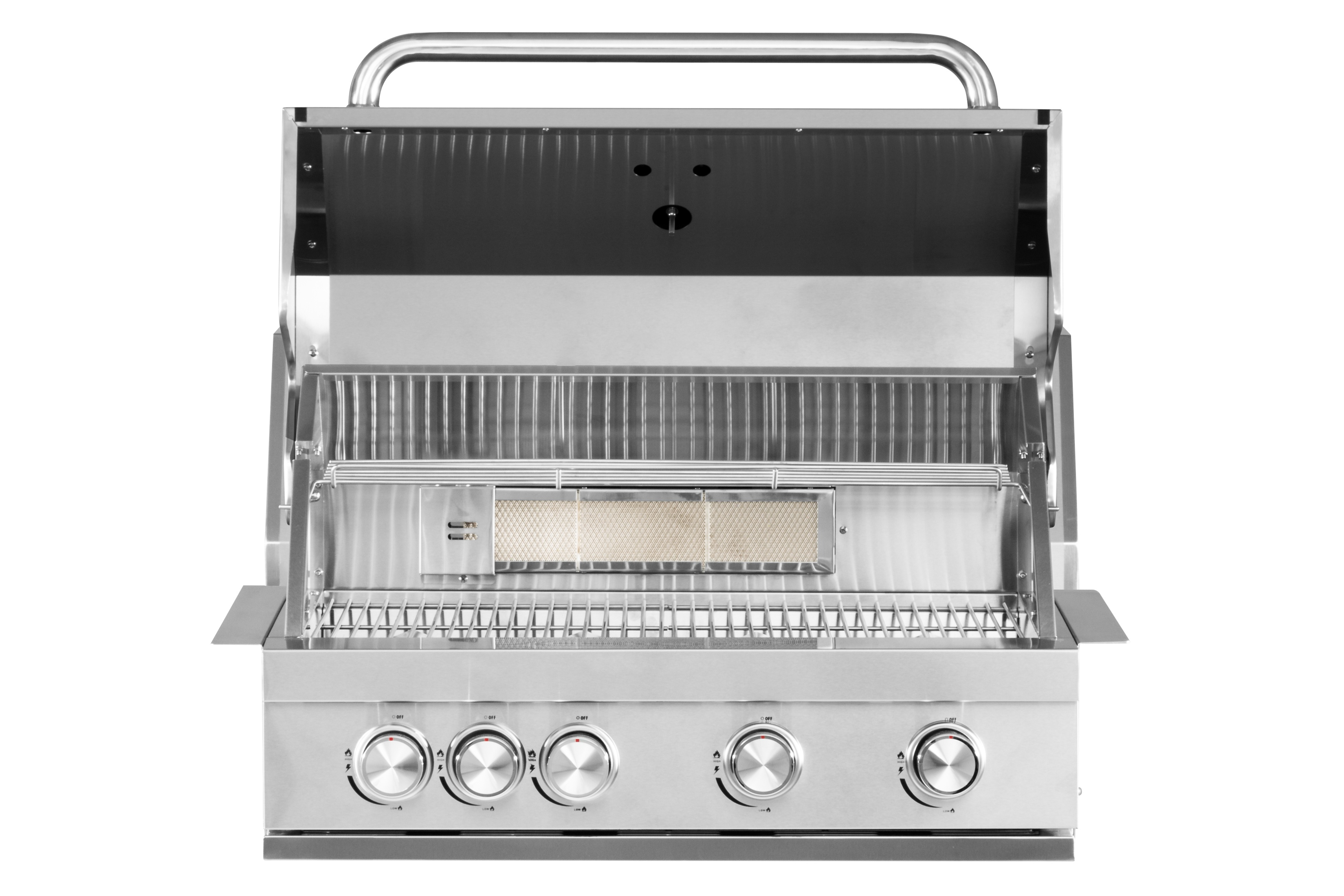 Inbouw Gas Bbq.Mustang Gas Grill Pearl 4 Pits Inbouw