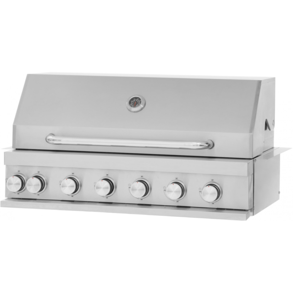 Jewel 7 pits RVS Mustang gas grill zelfbouw